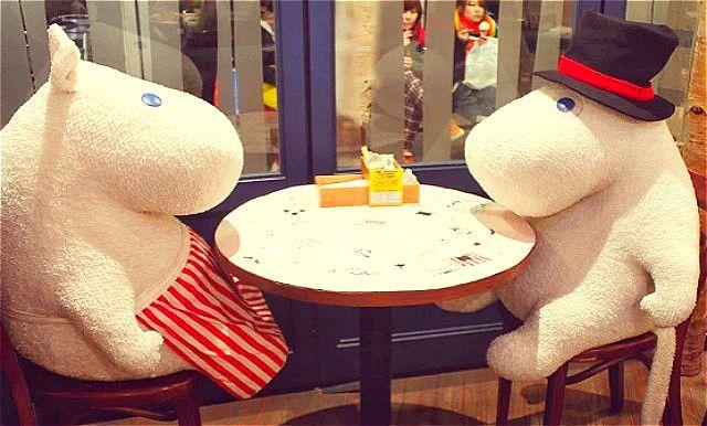 再没有一个人吃饭的尴尬:Moomin Cafe