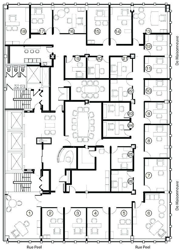 Office Floor Plan Design Architectural Office Layouts