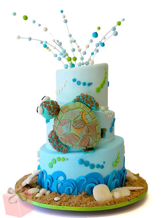 So many under the sea themed cake ideas So cute!!