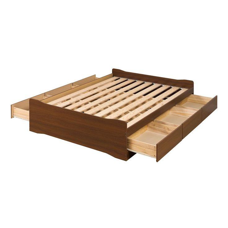 Coal Harbor Platform Storage Bed - Full/Double, Brown