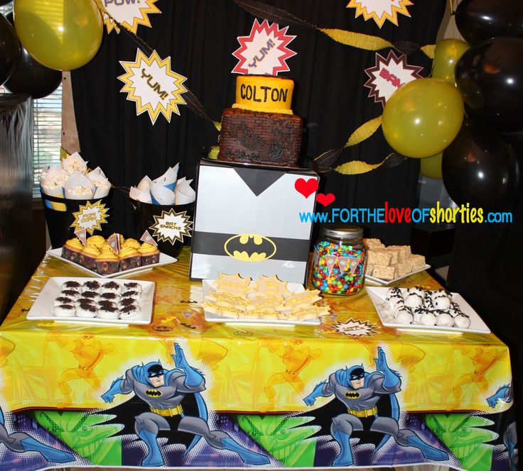 Batman Party - love the name on the cake