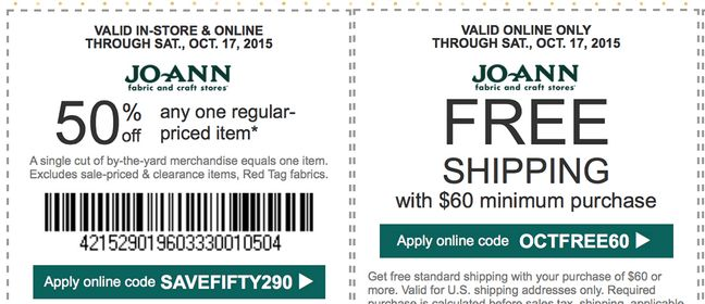 Joann fabrics chicago coupons