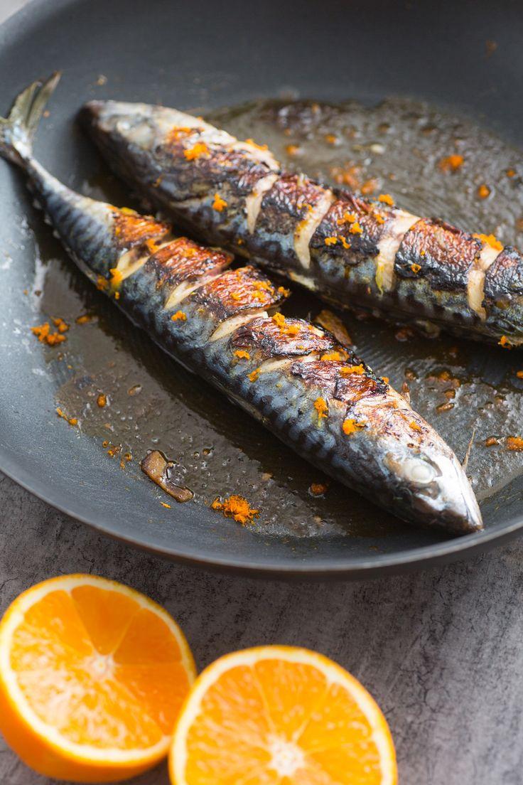 Sgombro all'arancia: un secondo piatto di pesce aromatico, saporito e light!  [Roasted mackerel with orange]