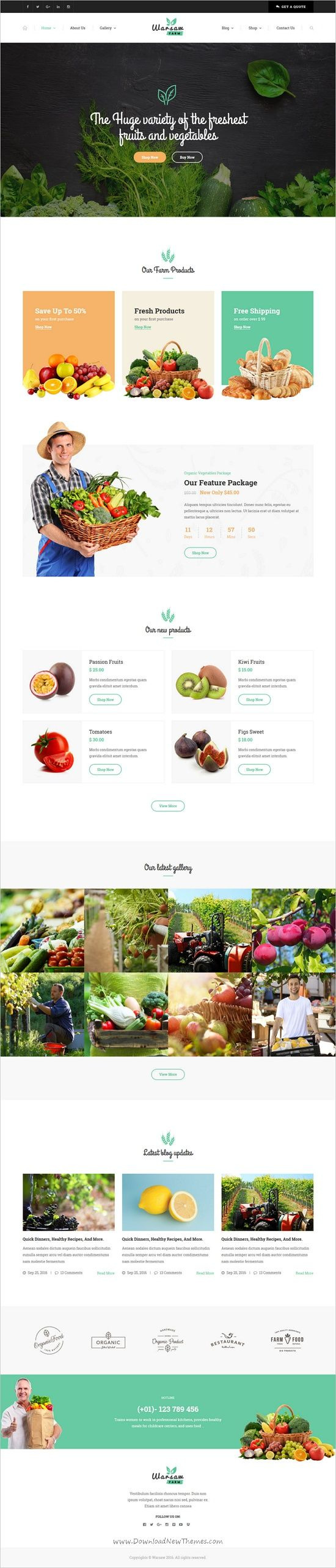 Warsaw is a wonderful responsive #HTML bootstrap template for #webdev Agricultural Business, #Farm, Organic #Food Product shop, Bakery, Organic Beauty Stores, Shops of Natural Cosmetics websites download now➩ https://themeforest.net/item/warsaw-organic-food-agriculture-farm-services-and-beauty-products-html-template/19177557?ref=Datasata