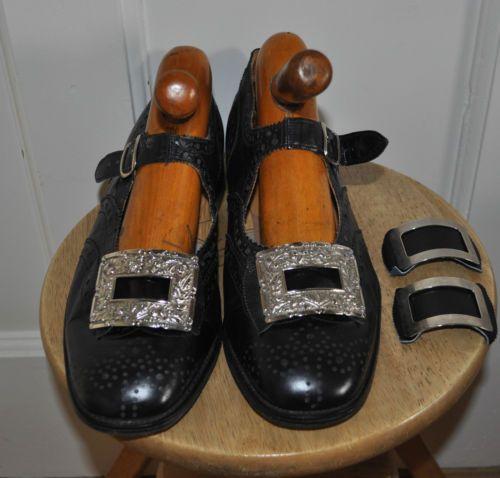 Vintage-Keltic-All-Leather-Buckle-Brogues-for-Highland