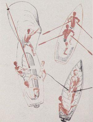 The left part of the sport-page, 1928 - Alexander Deineka - 1200artists.com