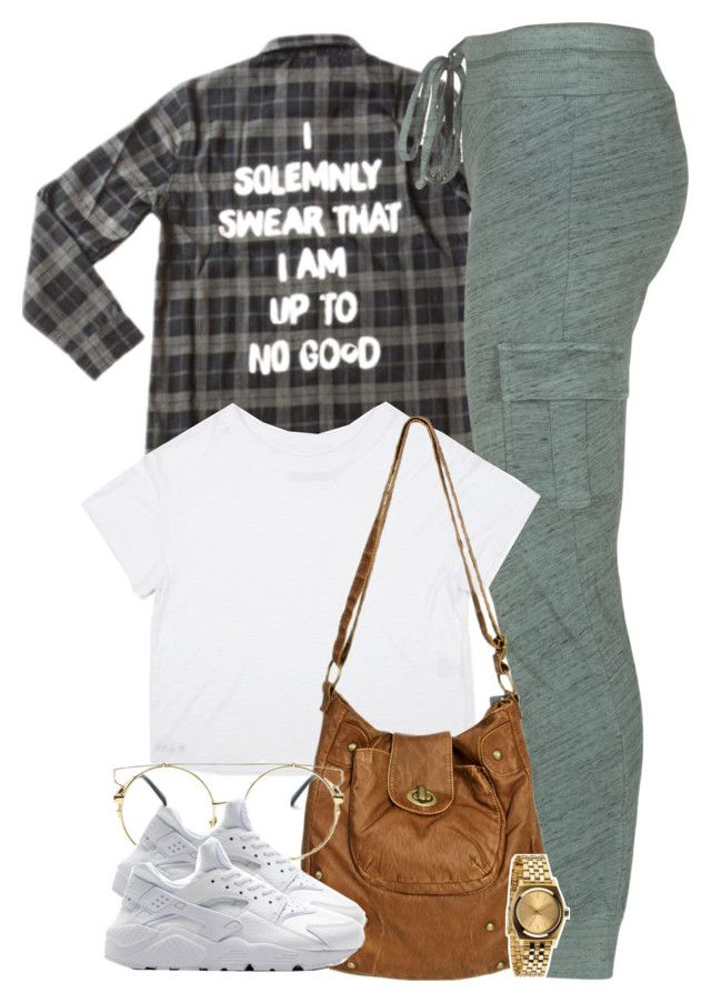 """""""I solemnly swear that I am up to no good."""" by cheerstostyle ❤ liked on Polyvore featuring Splendid, Wet Seal, NIKE and Nixon"""