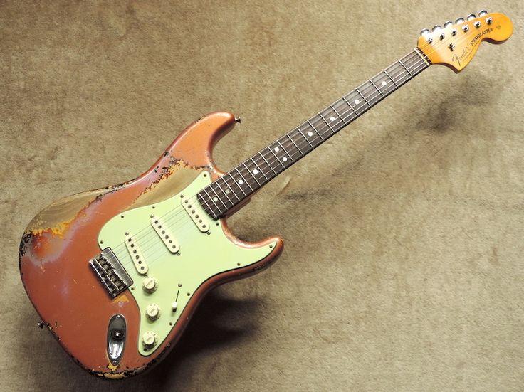 クロサワ楽器店 Fender USA Custom Shop Master Built Big Peg Stratocaster Heavy Relic by Dale Wilson ~Burgundy Mist over 3-Tone Sunburst~