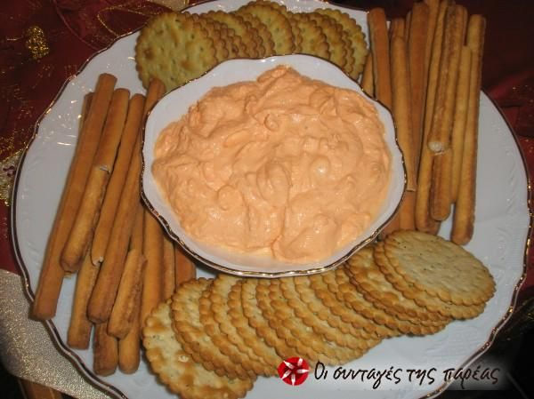 Ντίπ με τυρί κρέμα και πιπεριές Φλωρίνης #sintagespareas
