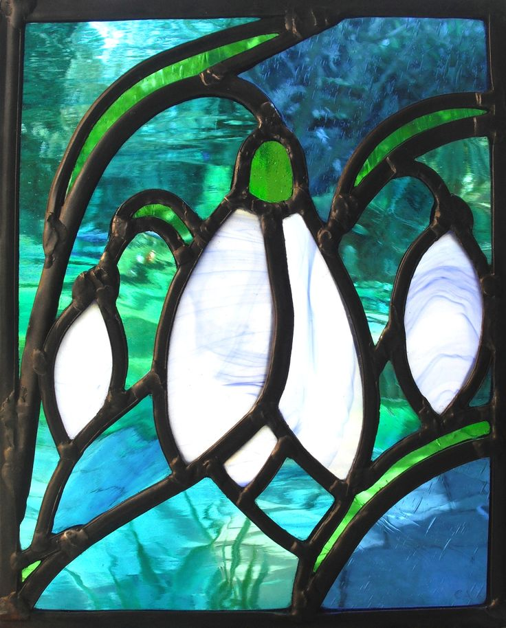 Lovely snowdrops! Carol Arnold Stained Glass and Design