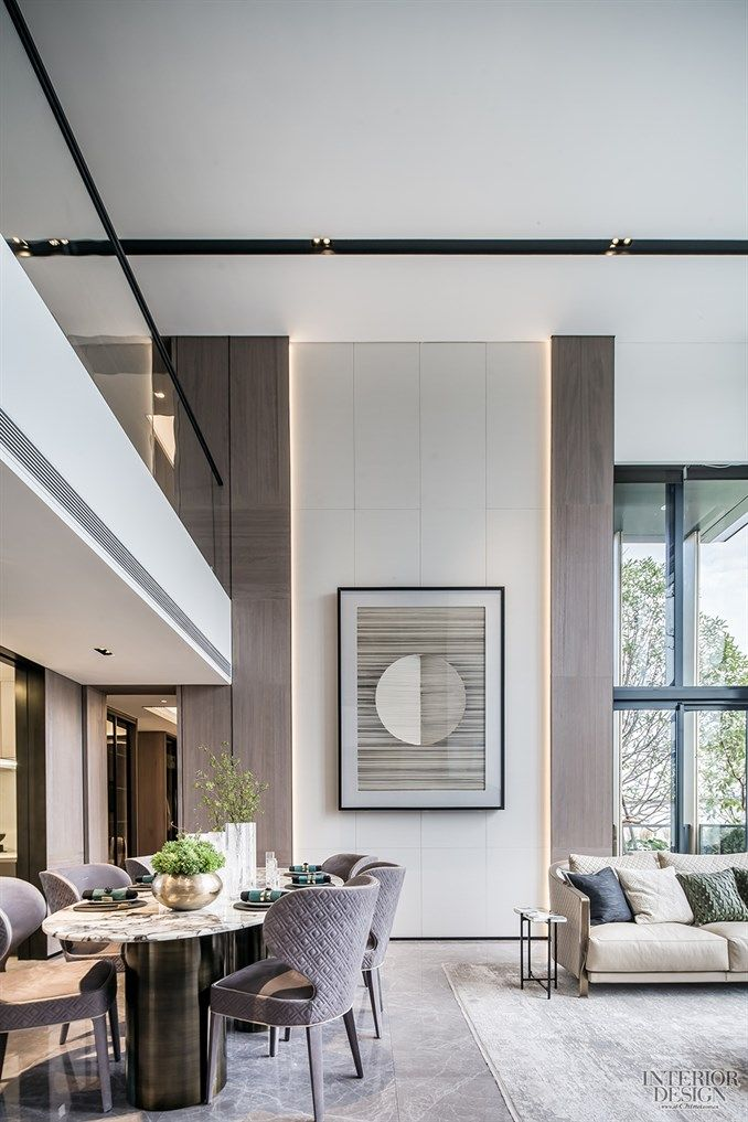 Double height dining room design