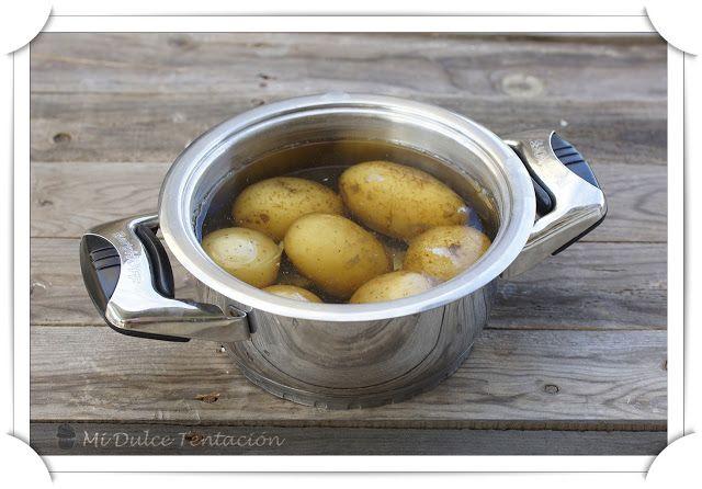 Mi dulce tentación: Patatas Rellenas de Salmorejo Don Simón con Huevo de Codorniz
