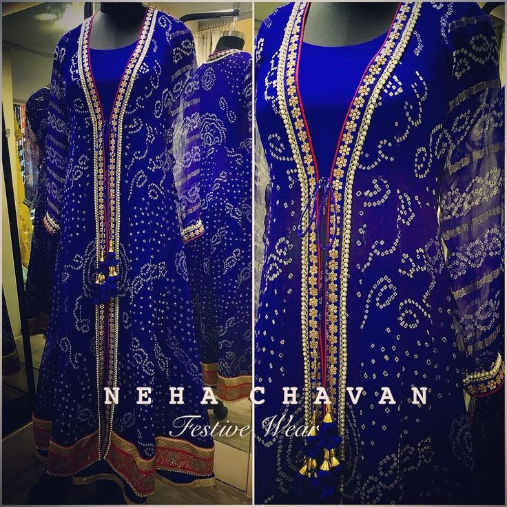 The traditional bandhani with a modern touch! Made from a saree this beautiful piece for a special client. Get in touch with us to renovate your sarees into masterpieces ! For more details email us at fashion@nehachavan.com or drop in your email id in the comment below and we will get back to you soon. We deliver worldwide. #NC #NehaChavan #customize #fashion #anarkali #bandhani #bridetobe #blue #colors #chic #contactus #designerwear #designstudio #festivewear #festivewear2016 #instapic…
