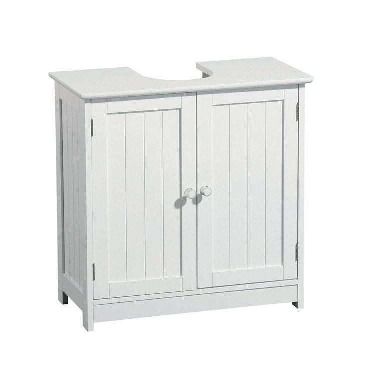 White Under the Sink Cupboard, Space Saving Bathroom Floor Cabinet in Home, Furniture & DIY, Furniture, Cabinets & Cupboards | eBay!