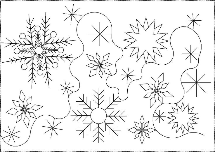 7 Best Snowflake Stencils Images