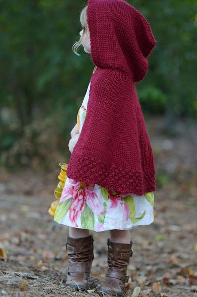 red riding hood cape. I need to make a few of these for my girls