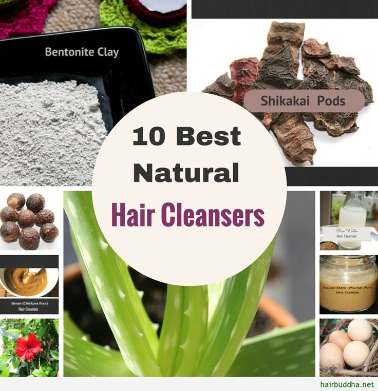 10 best natural cleanser - No. 5 is my favorite! Bentonite clay is a cleanser for oily, greasy hair. It's rich in minerals such as silica, which helps to sooth irritated scalp conditions like dandruff and decrease breakage.