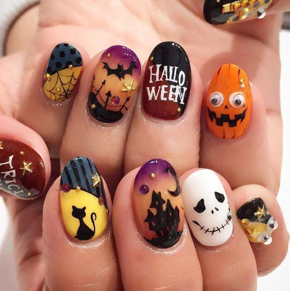 Halloween Nail Art Pinterest