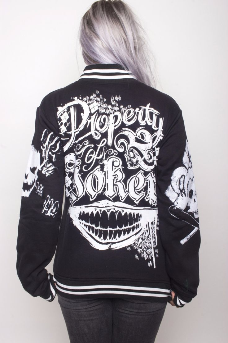 Property Of The Joker Black Varsity Jacket