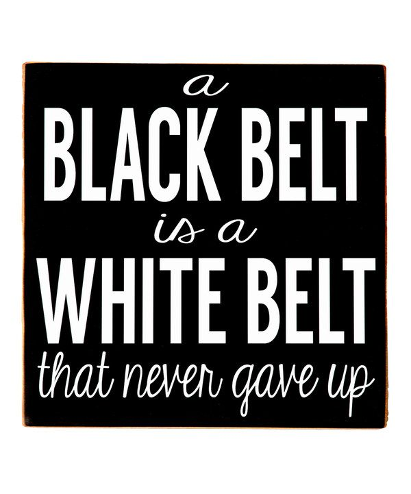Black & White 'Black Belt' Wall Art by Vinyl Crafts #zulily #zulilyfinds