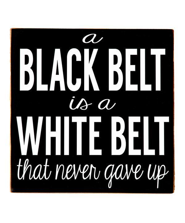 Look what I found on #zulily! Black & White 'Black Belt' Wall Art by Vinyl Crafts #zulilyfinds