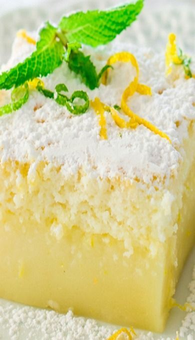 Lemon Magic Cake-going to try with gf flour-i'm craving lemon!