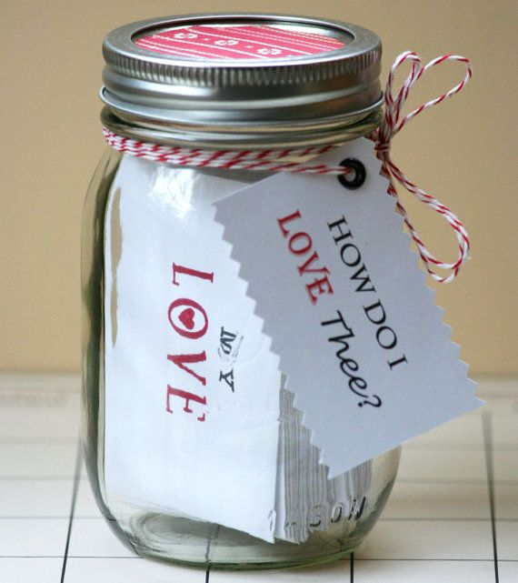 Love Jar  31 Days of Love  Jar filled with by TheOrangeSparrow, $37.00
