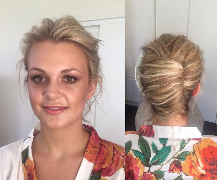 Yesterday's stunning bride Anna. Textured modern french roll & glowing flawless makeup. Anna got married on her parents beautiful property, styled to perfect by @eventsbykate . @shelleypricephoto was there to capture all the magic of the day. #makeupbysophieknox #hairbysophieknox #morningtonpeninsulamakeupartist #morningtonpeninsulahairstylist