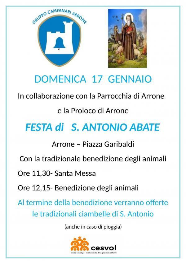 Sant Antonio Abate festeggiato ad Arrone