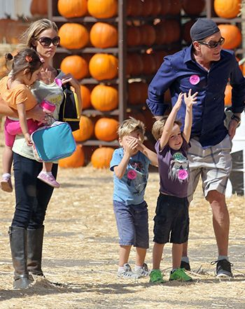Charlie Sheen, Denise Richards Have Pumpkin Patch Outing With Brooke Mueller's Twins: Picture