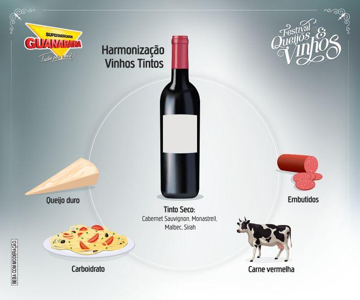 Aprenda a harmonizar alimentos com vinho tinto seco.
