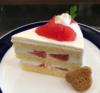 ピンクグレープフルーツのショートケーキ