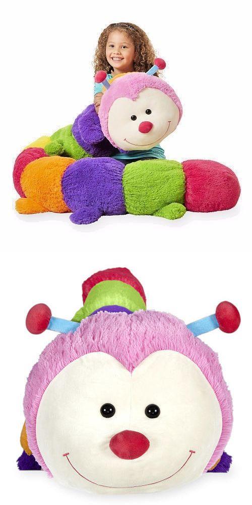 Animal Alley 168241: Jumbo Stuffed Caterpillar Animal Alley Long Plush Pink Green Dan Dee Bug Toy -> BUY IT NOW ONLY: $69.95 on eBay!