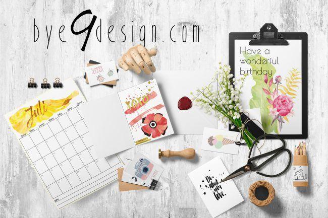 bye9design print- digitale print - digital download - free printables