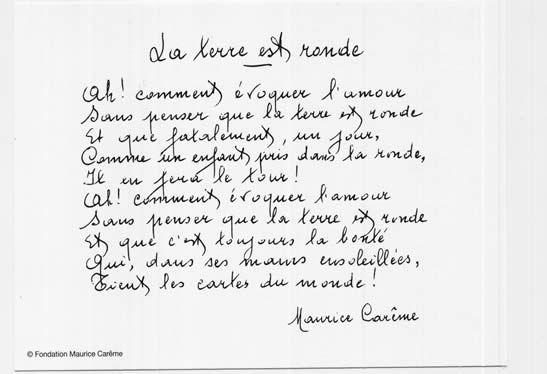Maurice Carême, La terre est ronde