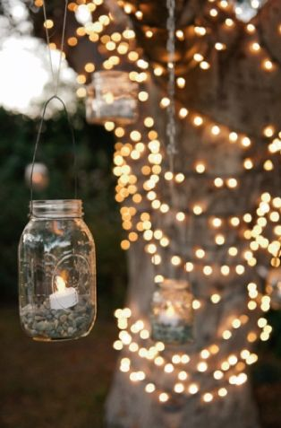 Fairy lights are a must at any outdoor wedding, create a magical atmosphere with millions of lights!