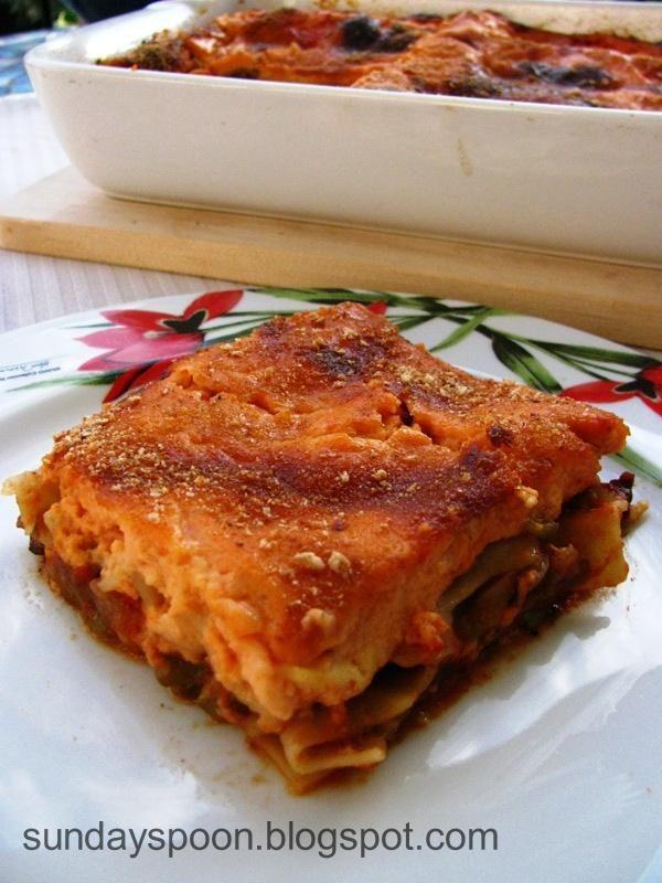 Κανελόνια με λαχανικά και κόκκινη μπεσαμέλ • sundayspoon