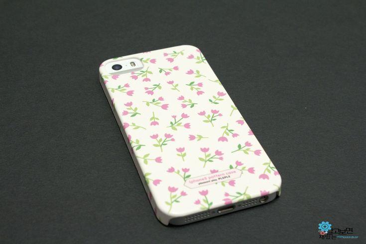 봄향기 물씬 나는 여자친구에게 선물하기 좋은 꽃무늬 패턴 아이폰5S 케이스, Pleple flower pattern iPhone5s case
