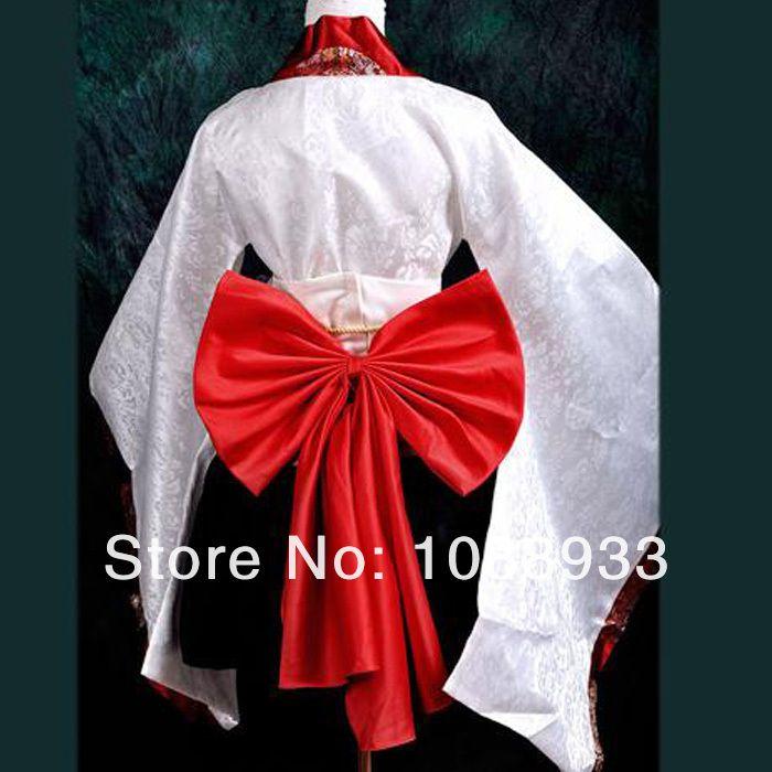 Kimono japonais cosplay costumes blanc traditionnel japonais kimono lolita robe de soirée , plus la taille personnalisée gros dans Vêtements asiatiques et des Îles du pacifique de Nouveauté et une utilisation particulière sur AliExpress.com | Alibaba Group