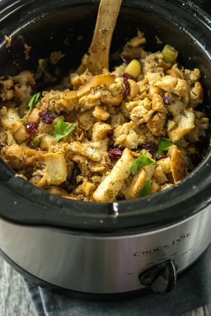 Slow Cooker Caramelized Apple Stuffing Easy Crockpot Ideas In 2018