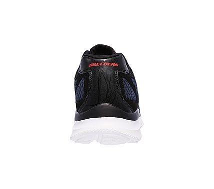 Skechers Men's Satisfaction Flash Point Memory Foam Lace Up Jogger Shoes (Navy/Black)