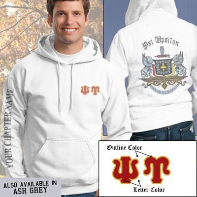 Psi Upsilon Crest Sweatshirt - Gildan 18500 - SUB