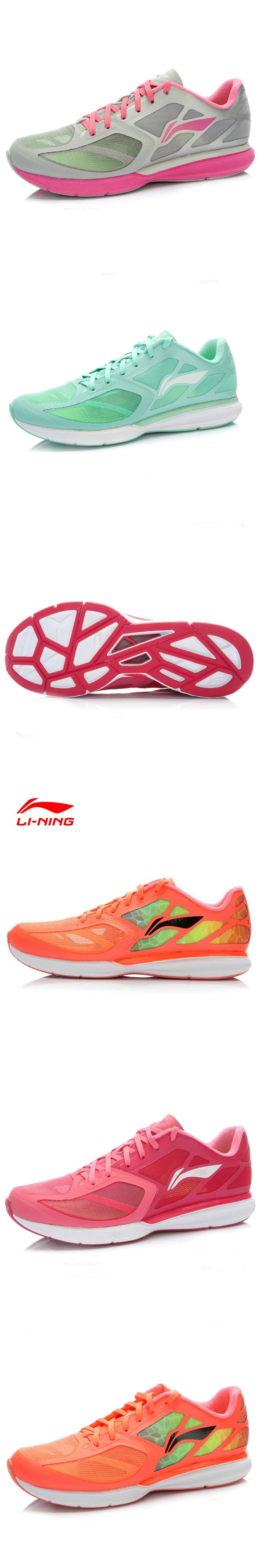 Li-Ning Running Shoes Women Outdoor Fabric Vamp Breathable Lace Up Cushioning DMX Light Sport Shoes ARBJ016 XYP049
