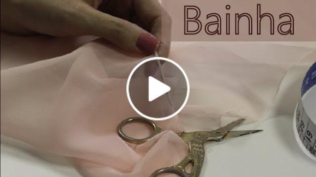 Esse tutorial ensina a fazer bainha à mão, para tecidos finos e transparentes.