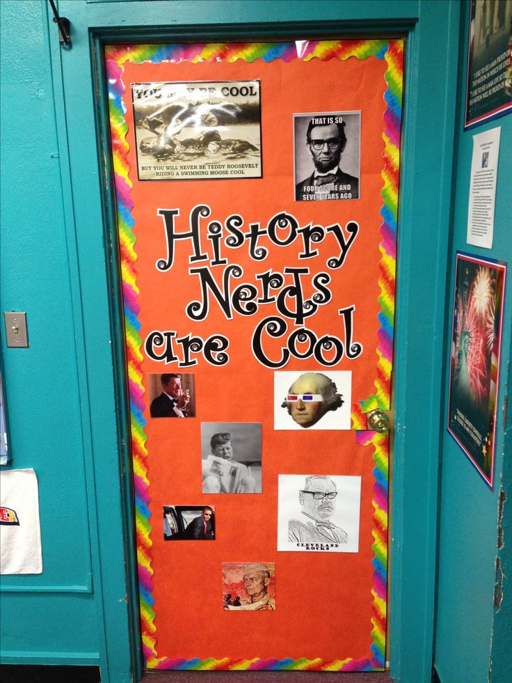 Cool History Classroom Decorations : My new door decor for history class quot nerds are