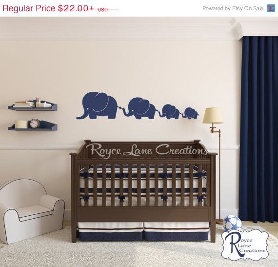 Vacation Sale Children Wall Decal Elephant by RoyceLaneCreations