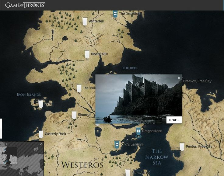 Game of Thrones Interactive Map of Westeros & Essos. Explore the whole world. #GoT