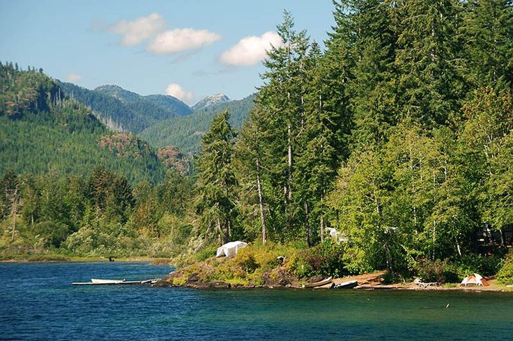 Campsite on the west end of Sproat Lake, Vancouver Island, British Columbia…