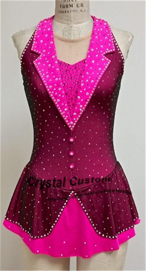 Women-s-font-b-Figure-b-font-font-b-Skating-b-font-font-b-Dresses-b.jpg (500×925) Pink figure skating costume