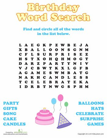 birthday word search substitute savers birthday words happy birthday words 10th birthday. Black Bedroom Furniture Sets. Home Design Ideas